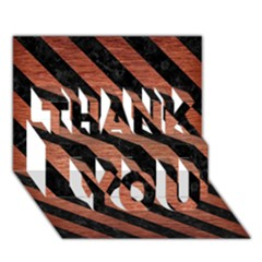Stripes3 Black Marble & Copper Brushed Metal (r) Thank You 3d Greeting Card (7x5)