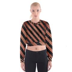 STR3 BK MARBLE COPPER (R) Women s Cropped Sweatshirt