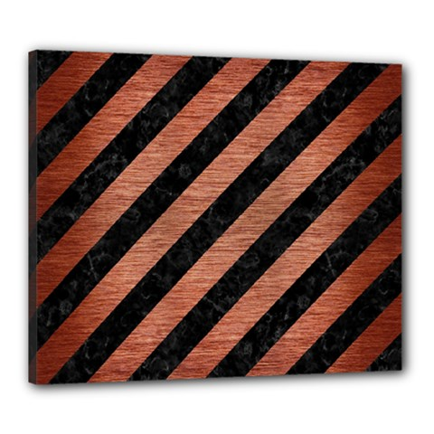 STR3 BK MARBLE COPPER Canvas 24  x 20