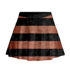 STR2 BK MARBLE COPPER Mini Flare Skirt