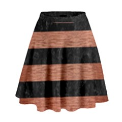 STR2 BK MARBLE COPPER High Waist Skirt