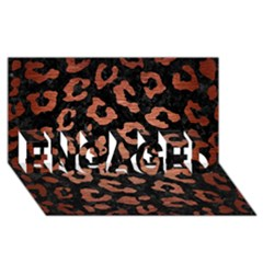 Skin5 Black Marble & Copper Brushed Metal (r) Engaged 3d Greeting Card (8x4)