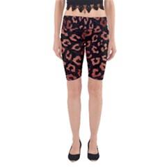 Skin5 Black Marble & Copper Brushed Metal (r) Yoga Cropped Leggings