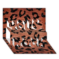SKN5 BK MARBLE COPPER You Rock 3D Greeting Card (7x5)