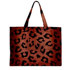 SKN5 BK MARBLE COPPER Zipper Mini Tote Bag
