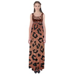 Skin5 Black Marble & Copper Brushed Metal Empire Waist Maxi Dress