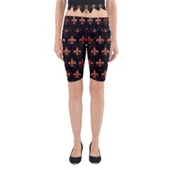 RYL1 BK MARBLE COPPER (R) Yoga Cropped Leggings