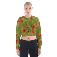 Poppy Ii   Wonderful Summer Feelings Women s Cropped Sweatshirt