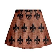 Ryl1 Bk Marble Copper Mini Flare Skirt