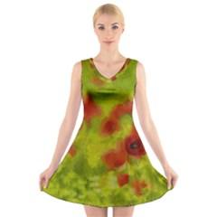 Poppy III V-Neck Sleeveless Skater Dress