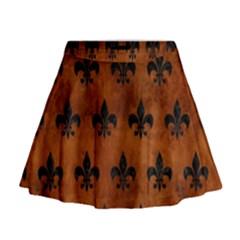 RYL1 BK MARBLE BURL Mini Flare Skirt