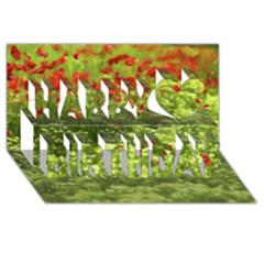 Poppy V Happy Birthday 3D Greeting Card (8x4)