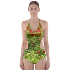 Poppy V Cut Out One Piece Swimsuit