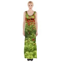Poppy V Maxi Thigh Split Dress