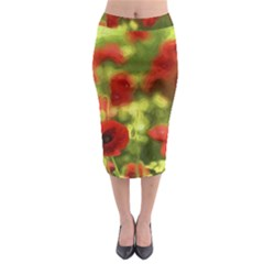 Poppy VI Midi Pencil Skirt