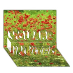 Poppy VII YOU ARE INVITED 3D Greeting Card (7x5)