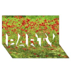 Poppy VII PARTY 3D Greeting Card (8x4)