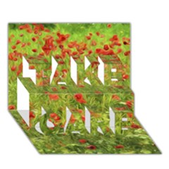 Poppy VII TAKE CARE 3D Greeting Card (7x5)