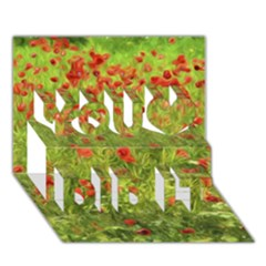 Poppy VII You Did It 3D Greeting Card (7x5)