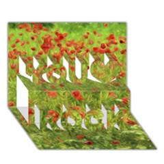 Poppy VII You Rock 3D Greeting Card (7x5)