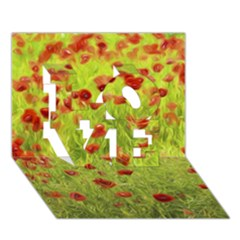 Poppy Viii Love 3d Greeting Card (7x5)