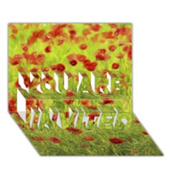 Poppy VIII YOU ARE INVITED 3D Greeting Card (7x5)