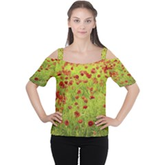 Poppy Viii Women s Cutout Shoulder Tee