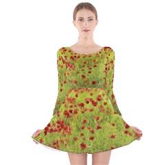 Poppy VIII Long Sleeve Velvet Skater Dress