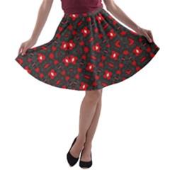 TRUE US A-line Skater Skirt