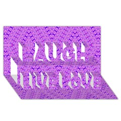 TOTAL CONTROL Laugh Live Love 3D Greeting Card (8x4)