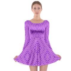 TOTAL CONTROL Long Sleeve Skater Dress