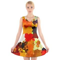Love Me 1 V-Neck Sleeveless Skater Dress