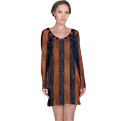 STR1 BK MARBLE BURL Long Sleeve Nightdress