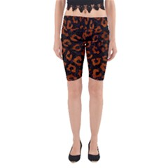 SKN5 BK MARBLE BURL (R) Yoga Cropped Leggings