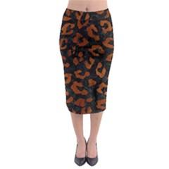 SKN5 BK MARBLE BURL (R) Midi Pencil Skirt