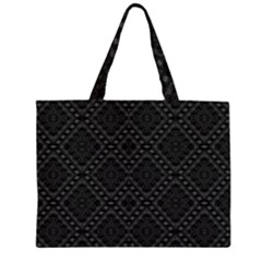 BACK IS BLACK Zipper Large Tote Bag