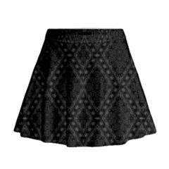 Back Is Black Mini Flare Skirt