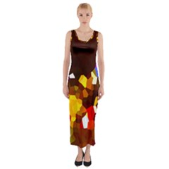 Empire Lights1 Fitted Maxi Dress