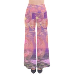 Glorious Skies, Abstract Pink And Yellow Dream Women s Chic Palazzo Pants