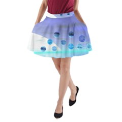Moonlight Wonder, Abstract Journey To The Unknown A Line Pocket Skirt