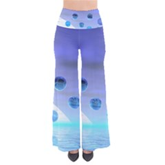Moonlight Wonder, Abstract Journey To The Unknown Women s Chic Palazzo Pants