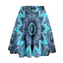 Star Connection, Abstract Cosmic Constellation High Waist Skirt
