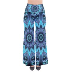 Star Connection, Abstract Cosmic Constellation Women s Chic Palazzo Pants