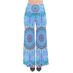 Sapphire Ice Flame, Light Bright Crystal Wheel Women s Chic Palazzo Pants