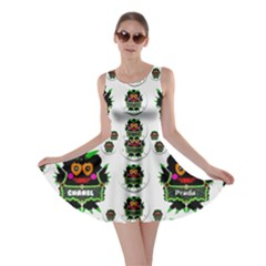 Monster Trolls In Fashion Shorts Skater Dress