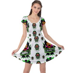 Monster Trolls In Fashion Shorts Cap Sleeve Dresses