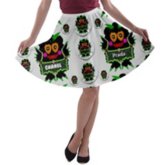 Monster Trolls In Fashion Shorts A-line Skater Skirt