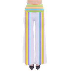 Summer Pastel Stripe Pattern Palazzo Pants Women s Chic Palazzo Pants