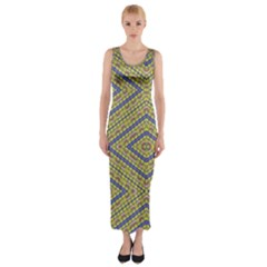 Say No Fitted Maxi Dress