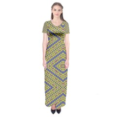 Say No Short Sleeve Maxi Dress